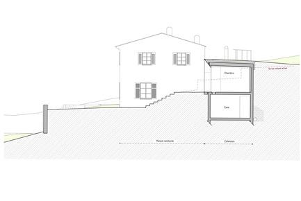 Press kit | 2433-01 - Press release | Maison SPE - ELLENA MEHL Architectes - Residential Architecture -  Section  - Photo credit:  ELLENA MEHL ARCHITECTS