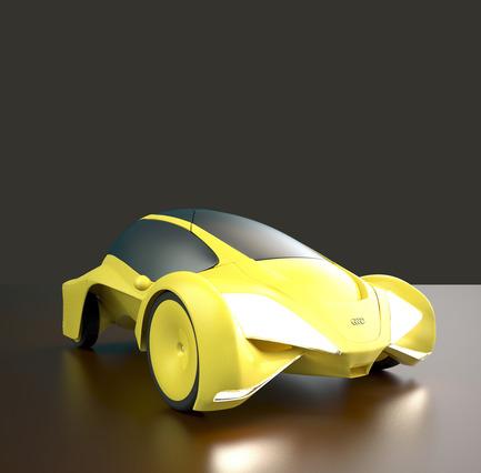 Press kit | 2234-02 - Press release | Dubai based Designer Niko Kapa wins Top Prize at European Product Design Awards - Studio Niko Kapa - Industrial Design -  Audi Cetus - front view - Photo credit:  Studio Niko Kapa