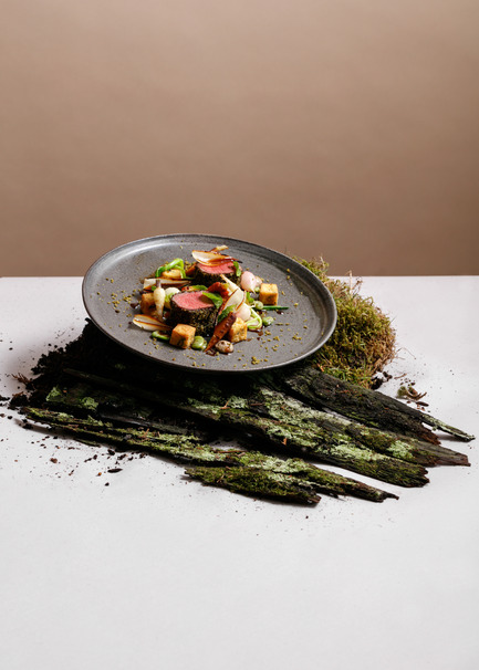 Press kit | 2065-02 - Press release | Botanist Restaurant to Open its Doors on April 24 in Vancouver, BC - Fairmont Pacific Rim - Lifestyle - Botanist - Herb-Crusted Lamb Saddle - Photo credit: Ian Lanterman