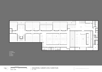 Press kit | 2551-01 - Press release | The Lima Art Museum New Contemporary Art Wing - AYBARS ASCI, Efficiency Lab for Architecture PLLC - Art - Education Level Floor Plan - Photo credit: Efficiency Lab for Architecture PLLC