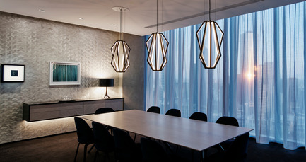 Press kit | 2531-01 - Press release | Corrs Chambers Westgarth - Electrolight - Lighting Design - Dining Room - Photo credit: Peter Clarke