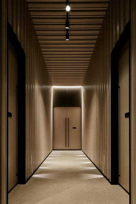 Dossier de presse | 2531-01 - Communiqué de presse | Corrs Chambers Westgarth - Electrolight - Lighting Design - Corridor - Crédit photo : Peter Clarke