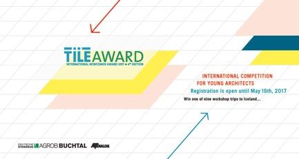 Press kit   2506-02 - Press release   Tile Award 2017 - AGROB BUCHTAL and AIT-Dialog - Competition - Tile Award 2017 key visual - Photo credit: AGROB BUCHTAL and AIT-Dialog