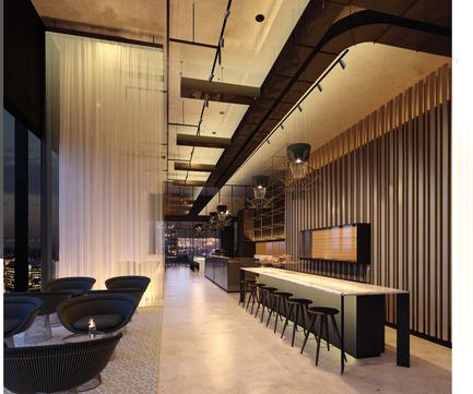 Dossier de presse | 2531-01 - Communiqué de presse | Corrs Chambers Westgarth - Electrolight - Lighting Design -  Artistic Render - Café - Crédit photo : Electrolight