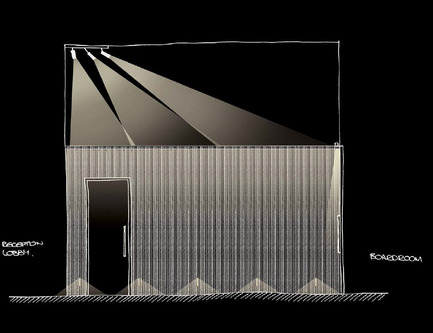 Dossier de presse | 2531-01 - Communiqué de presse | Corrs Chambers Westgarth - Electrolight - Lighting Design - Artistic Sketch - Corridor - Crédit photo : Electrolight