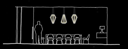 Dossier de presse | 2531-01 - Communiqué de presse | Corrs Chambers Westgarth - Electrolight - Lighting Design - Artistic Sketch - Dining Room Feature Pendant - Crédit photo : Electrolight