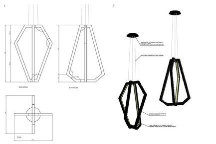 Dossier de presse | 2531-01 - Communiqué de presse | Corrs Chambers Westgarth - Electrolight - Lighting Design - Details Sketch - Dining Room Feature Pendant - Crédit photo : Electrolight