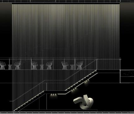 Dossier de presse | 2531-01 - Communiqué de presse | Corrs Chambers Westgarth - Electrolight - Lighting Design - Artistic Sketch - Stair - Crédit photo : Electrolight
