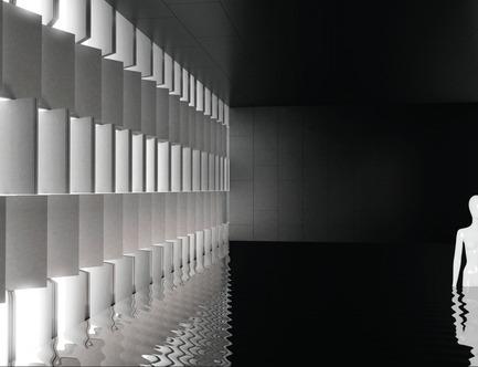 Press kit | 2506-02 - Press release | Tile Award 2017 - AGROB BUCHTAL and AIT-Dialog - Competition - Ceramic Curtain, designed by Sebastian Brunke (Austria)for Tile Award 2012 - Photo credit: Sebastian Brunke
