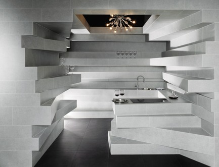 Press kit   2506-02 - Press release   Tile Award 2017 - AGROB BUCHTAL and AIT-Dialog - Competition - Inside-out kitchen, designed by Albuquerque Goinhas (Portugal) for Tile Award 2010 - Photo credit: Jochen Stüber