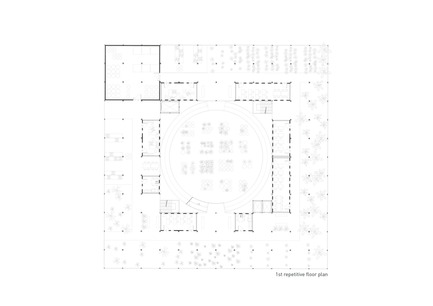 Press kit | 2567-01 - Press release | Mashambas Skyscraper - Ggrupa - Competition - 1st repetitive floor plan - Photo credit: ggrupa