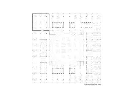Press kit | 2567-01 - Press release | Mashambas Skyscraper - Ggrupa - Competition - 2nd repetitive floor plan - Photo credit: ggrupa