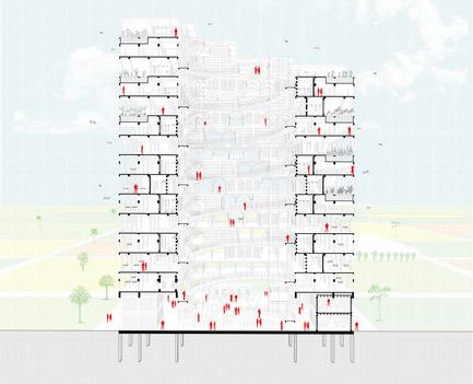 Press kit | 2567-01 - Press release | Mashambas Skyscraper - Ggrupa - Competition - section - Photo credit: ggrupa