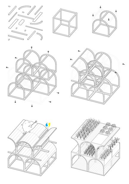 Press kit | 2567-01 - Press release | Mashambas Skyscraper - Ggrupa - Competition - shaping of the module - Photo credit: ggrupa