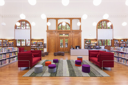 Dossier de presse | 2570-01 - Communiqué de presse | New York Public Library Stapleton Branch - Renovation and Expansion - Andrew Berman Architect - Architecture institutionnelle -  Children's area<br>  - Crédit photo : Naho Kubota
