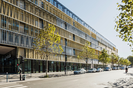 Press kit | 1008-04 - Press release | Headquarter Veolia - Dietmar Feichtinger Architectes - Commercial Architecture - Facade West  - Photo credit: Hertha Hurnaus