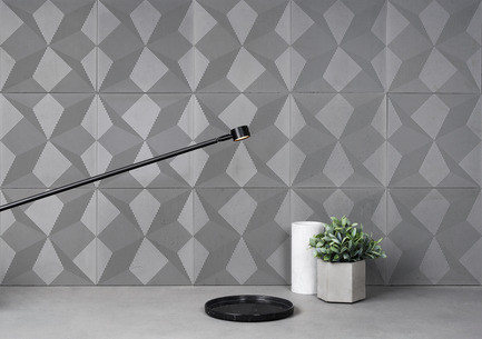 Press kit | 2459-01 - Press release | Concrete Wall Decoration Tiles - Shadow - Bentu Culture and Development Co., Ltd - Product -  Shadow doesnot onlyachieved success on a new materialbut also made a spare effortto protect our environment. - Photo credit: BENTU(www.bentudesign.com)