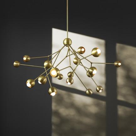 Press kit | 1665-02 - Press release | Lightmaker Studio Makes U.S. Debut at ICFF NY 2017 - Lightmaker Studio - Lighting Design - Boom Chandelier - Photo credit: Colin Faulkner