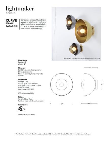 Press kit | 1665-02 - Press release | Lightmaker Studio Makes U.S. Debut at ICFF NY 2017 - Lightmaker Studio - Lighting Design - Curve Sconce Tearsheet - Photo credit: Naomi Finlay