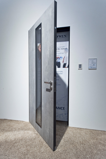 Press kit | 2578-01 - Press release | Award-winningALED Privacy-Plus Technology - LightGlass - Lighting Design -                JELD-WEN office doors with ALED Daylight, off - Photo credit: LightGlass