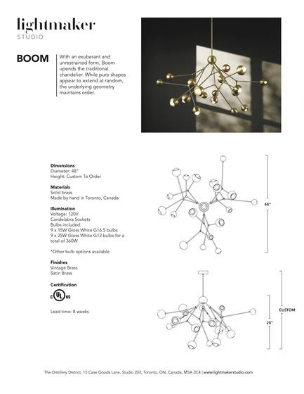 Press kit | 1665-02 - Press release | Lightmaker Studio Makes U.S. Debut at ICFF NY 2017 - Lightmaker Studio - Lighting Design - Boom Chandelier Tearsheet - Photo credit: Colin Faulkner