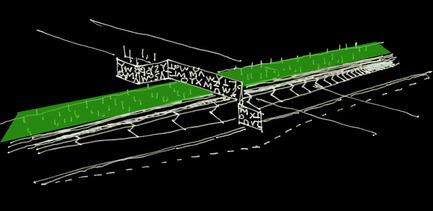 Press kit | 2366-01 - Press release | Un nouveau viaduc pour le Campus MIL de l'Université de Montréal - civiliti - Urban Design - Early Conceptual Sketch - Photo credit: Peter Soland