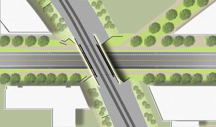 Press kit | 2366-01 - Press release | A New Viaduct for the MIL Campus of the Université de Montréal - civiliti - Urban Design - Site Plan - Photo credit: civiliti