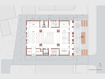 Press kit | 1481-01 - Press release | Center for Jewish Life at Drexel University - Stanley Saitowitz | Natoma Architects Inc. - Institutional Architecture - Center For Jewish Life - Drawing 03 - Photo credit: Stanley Saitowitz | Natoma Architects Inc