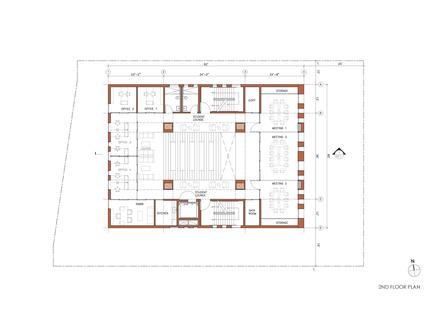 Press kit | 1481-01 - Press release | Center for Jewish Life at Drexel University - Stanley Saitowitz | Natoma Architects Inc. - Institutional Architecture - Center For Jewish Life - Drawing 04 - Photo credit: Stanley Saitowitz | Natoma Architects Inc