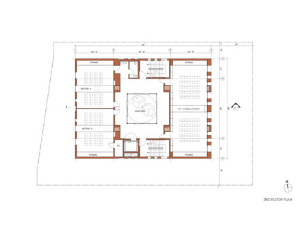 Press kit | 1481-01 - Press release | Center for Jewish Life at Drexel University - Stanley Saitowitz | Natoma Architects Inc. - Institutional Architecture - Center For Jewish Life - Drawing 05 - Photo credit: Stanley Saitowitz | Natoma Architects Inc