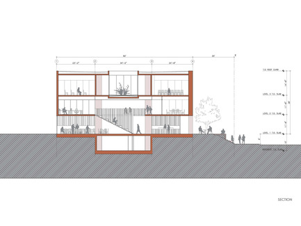 Press kit | 1481-01 - Press release | Center for Jewish Life at Drexel University - Stanley Saitowitz | Natoma Architects Inc. - Institutional Architecture - Center For Jewish Life - Drawing 06 - Photo credit: Stanley Saitowitz | Natoma Architects Inc