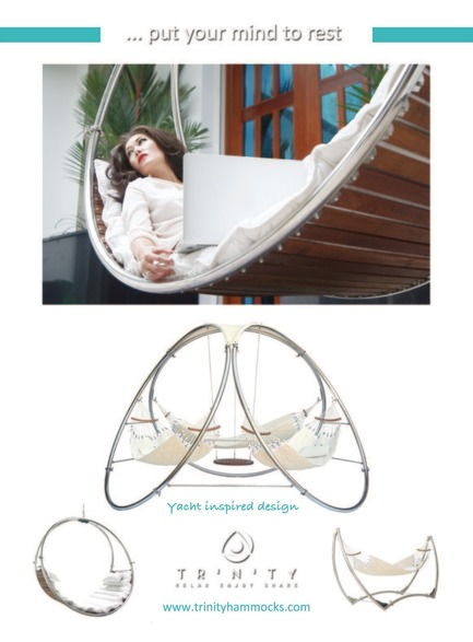 Press kit | 1083-02 - Press release | Trinity Completes Trifecta with Unveiling of Award-Winning Additions to its Hammock Line - TrinityHammocks - Product - Collection Trinity - Photo credit: Michael D'Inca
