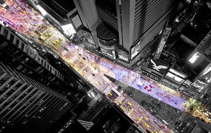 Dossier de presse | 1305-01 - Communiqué de presse | XXX Times Square with Love - J.MAYER.H und Partner, Architekten - Art - XXX Times Square with Love - Crédit photo : J.Mayer.H