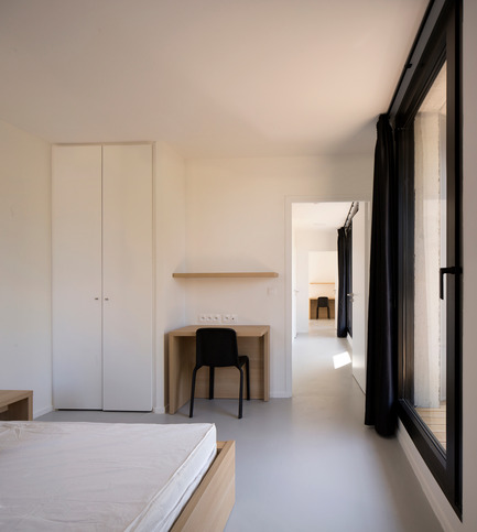 Press kit | 1040-06 - Press release | HEC Student Housing - Martin Duplantier Architectes - Residential Architecture - N1_Interior view - Photo credit: Clément GUILLAUME
