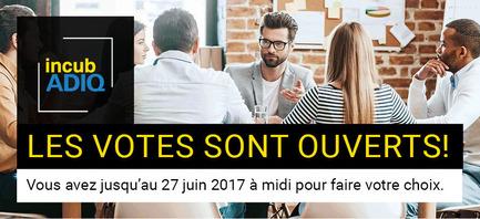 Dossier de presse | 1106-04 - Communiqué de presse | Ouverture des votes // Concours IncubADIQ - Association des designers industriels du Québec (ADIQ) - Concours - Bannière - Crédit photo : ADIQ