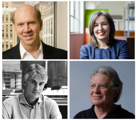 Press kit | 661-38 - Press release | World Architecture Festival Announces 'Super Jury' for 2017 Awards Programme - World Architecture Festival (WAF) - Competition - Photo credit: Clockwise from top left: Robert Ivy, Nathalie de Vries, Ian Ritchie and Christoph Ingenhoven, the WAF Super Jury for 2017<br><br>