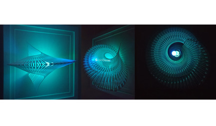 Dossier de presse | 2121-06 - Communiqué de presse | Seismic Electromagnetic Induction LED - Margot Krasojević Architects - Design d'éclairage - Recycled polymer 3d printed geometry light study - Crédit photo : Margot Krasojević