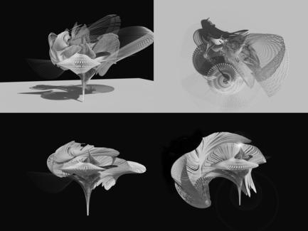 Dossier de presse | 2121-06 - Communiqué de presse | Seismic Electromagnetic Induction LED - Margot Krasojević Architects - Design d'éclairage - Animated Seismic digital model - Crédit photo : Margot Krasojević