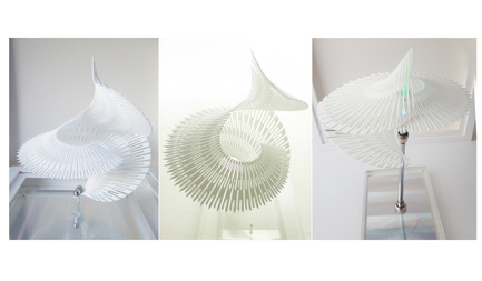 Dossier de presse | 2121-06 - Communiqué de presse | Seismic Electromagnetic Induction LED - Margot Krasojević Architects - Design d'éclairage - 3d printed recycled polymer net - Crédit photo : Margot Krasojević