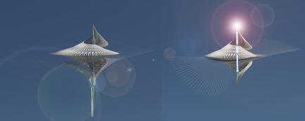 Dossier de presse | 2121-06 - Communiqué de presse | Seismic Electromagnetic Induction LED - Margot Krasojević Architects - Design d'éclairage - Seismic LED vertical movement induces current - Crédit photo : Margot Krasojević