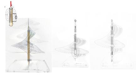 Press kit | 2121-06 - Press release | Seismic Electromagnetic Induction LED - Margot Krasojević Architects - Lighting Design - Electromagnetic induction LED diagram - Photo credit: Margot Krasojević