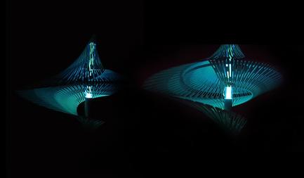 Dossier de presse | 2121-06 - Communiqué de presse | Seismic Electromagnetic Induction LED - Margot Krasojević Architects - Design d'éclairage - 60 Candela, 3m Light dissipation - Crédit photo : Margot Krasojević