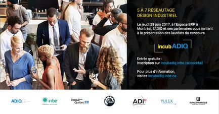 Press kit | 1106-05 - Press release | Cocktail réseautage IncubADIQ - Association des designers industriels du Québec (ADIQ) - Design industriel - Photo credit: adiq