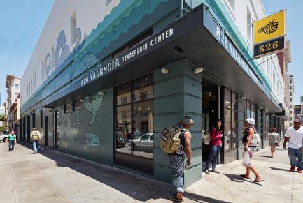 Press kit | 1562-02 - Press release | 826 Valencia Tenderloin Center Receives Special Commendation Award for Social Responsibility - INTERSTICE Architects - Commercial Architecture - Corner Detail - Photo credit: Matthew Millman
