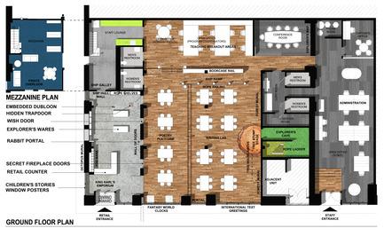 Dossier de presse | 1562-02 - Communiqué de presse | 826 Valencia Tenderloin Center Receives Special Commendation Award for Social Responsibility - INTERSTICE Architects - Commercial Architecture - Plan - Crédit photo :  INTERSTICE Architects