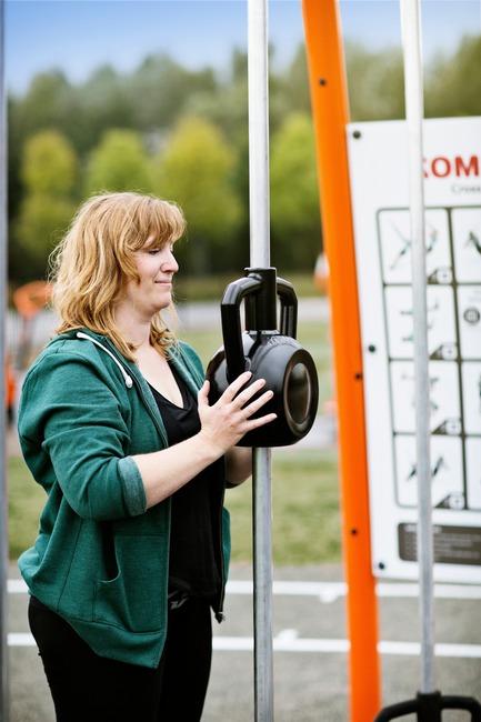Dossier de presse | 2487-01 - Communiqué de presse | Une nouvelle gamme révolutionnaire d'appareils de fitness de plein air - KOMPAN - Produit -  Magnetic Bells - Patent pending design - Crédit photo : KOMPAN