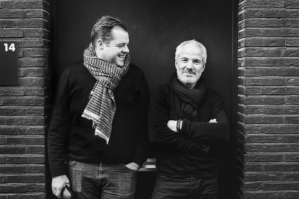 Press kit | 2505-01 - Press release | Innovative Belgian Faucet Design - Co.Studio - Product - designers Co.Studio left Gert Van den Steen right Christian Van Suetendael<br> - Photo credit: Senne Van der Ven<br>