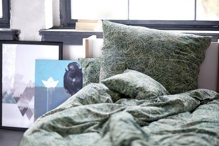 Press kit   2502-01 - Press release   Augmented Reality Bed Sheets - Hayka - Product - Hay bedding - Photo credit: Piotr Miazga