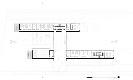 Dossier de presse | 2613-01 - Communiqué de presse | Faber Headquarters - GEZA - Gri e Zucchi architetti associati - Industrial Architecture -         Ground Floor Plan - Crédit photo :  GEZA