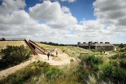 Press kit | 1997-04 - Press release | TIRPITZ, a 'Hidden Museum' on Danish West Coast - BIG - Bjarke Ingels Group and Tinker imagineers - Event + Exhibition - TIRPITZ museum embedded in the characteristic dune landscape of West Jutland, Denmark - Photo credit: Mike Bink Photography